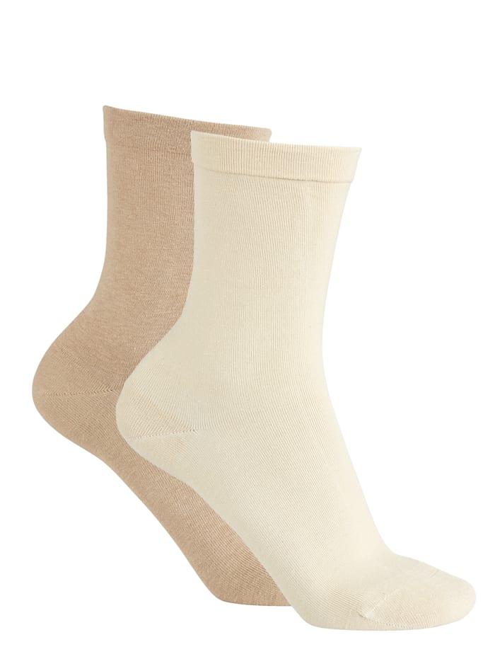 RS Harmony Softrand sokken 2 paar, Beige