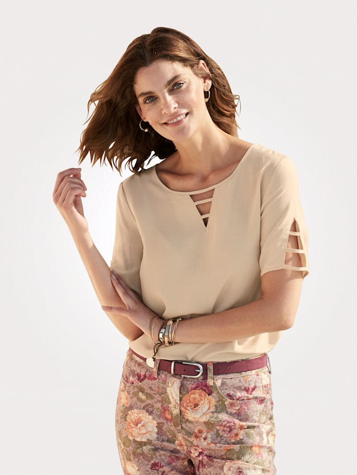 Blouse with cutout detailing