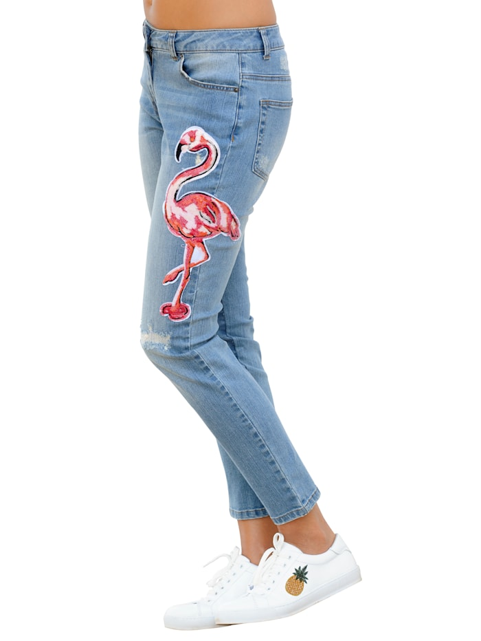 Jeans mit Pailletten-Applikation