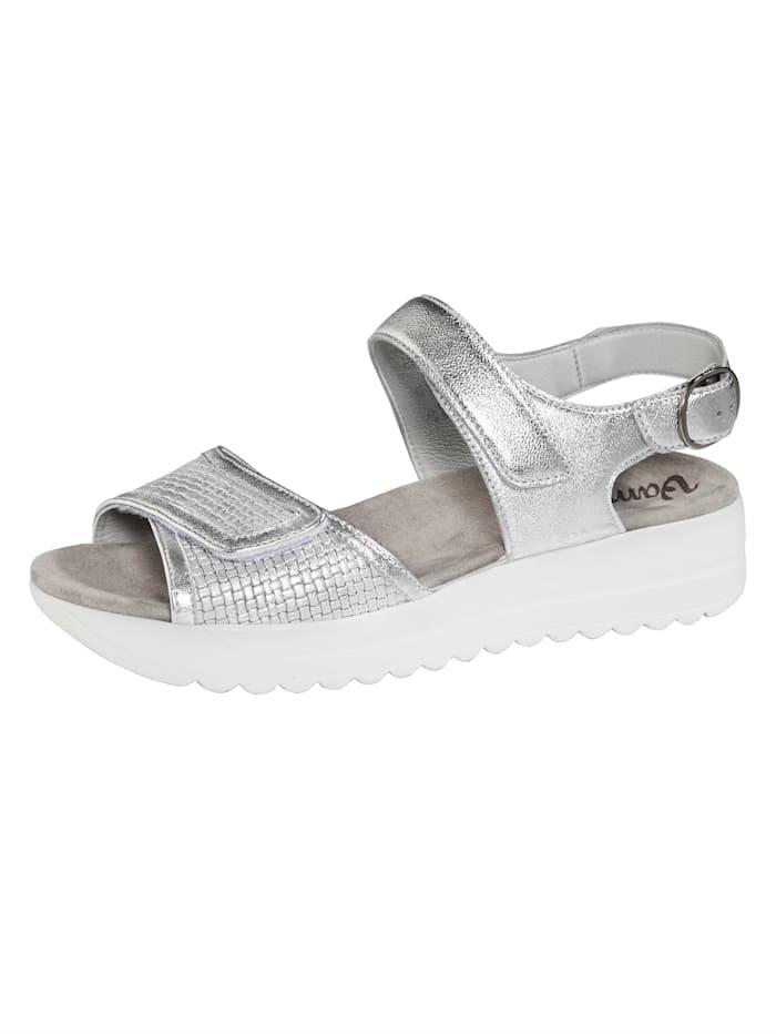 Vamos Sandale, Silberfarben