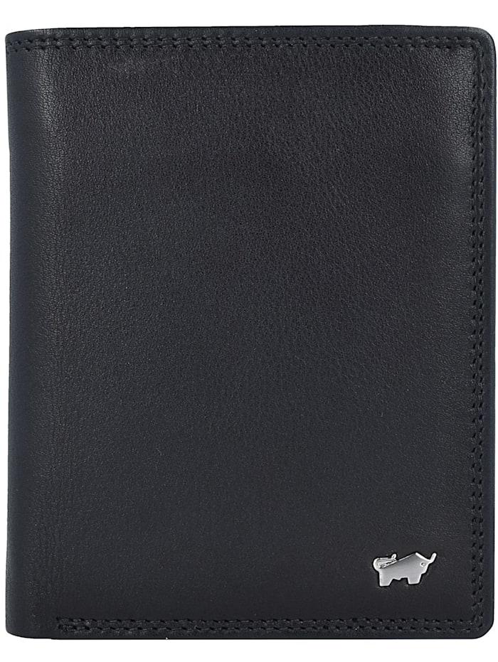 Braun Büffel Golf Geldbörse RFID Leder 10 cm, schwarz