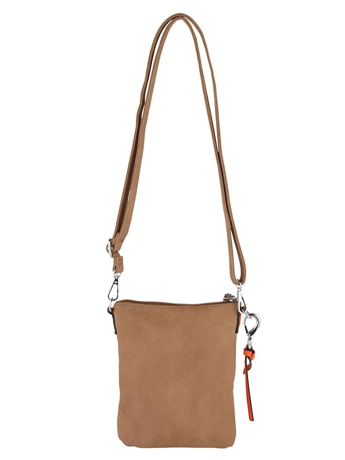 Shoulder bag with a detachable pendant