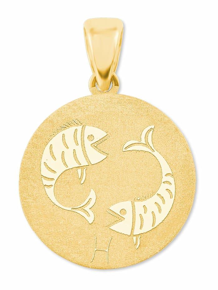 amor Anhänger Unisex, Gold 375, Fische, Gold