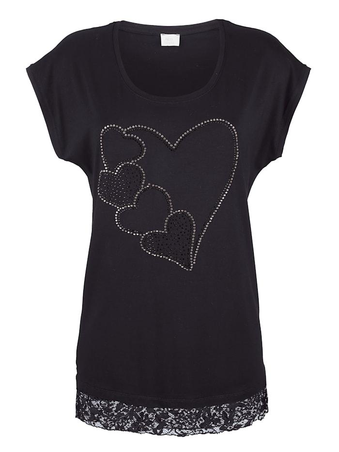 Shirt mit Herzmotiv