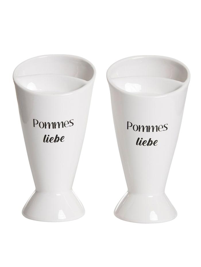 IMPRESSIONEN living Pommes-Becher-Set, 2-tlg., Weiß