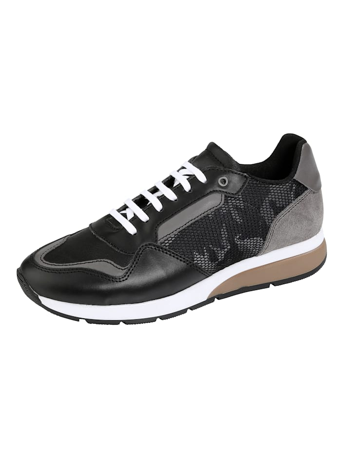 BABISTA Sneakers avec empiècement en mesh, Noir/Gris