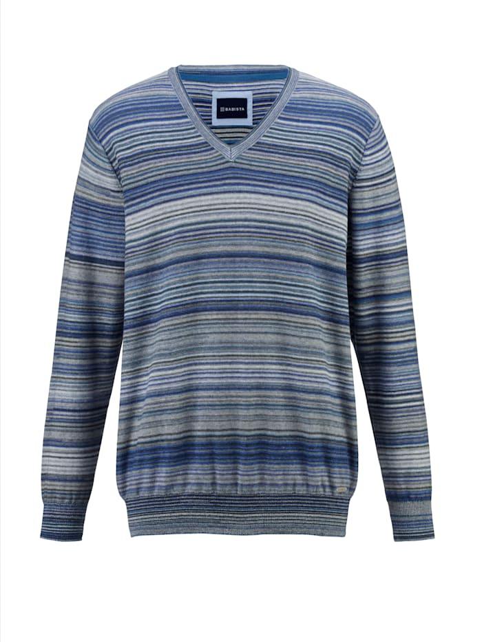 BABISTA Pullover Jedes Teil ein Unikat, Blau/Weiß