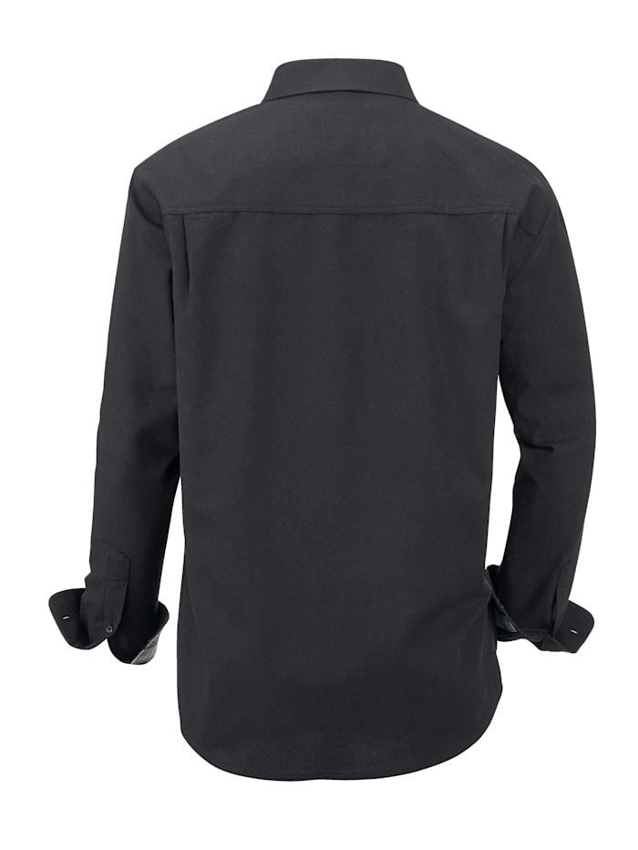 Overhemd met luchtdoorlatende structuur