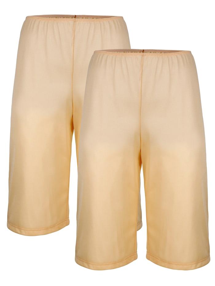 Südtrikot Hosenunterröcke im 2er-Pack mit antistatischer Ausrüstung, Beige