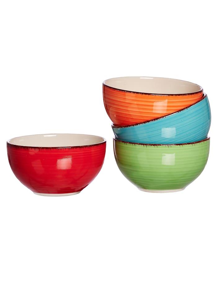 Ritzenhof & Breker 4tlg. Müslischalen-Set, Multicolor