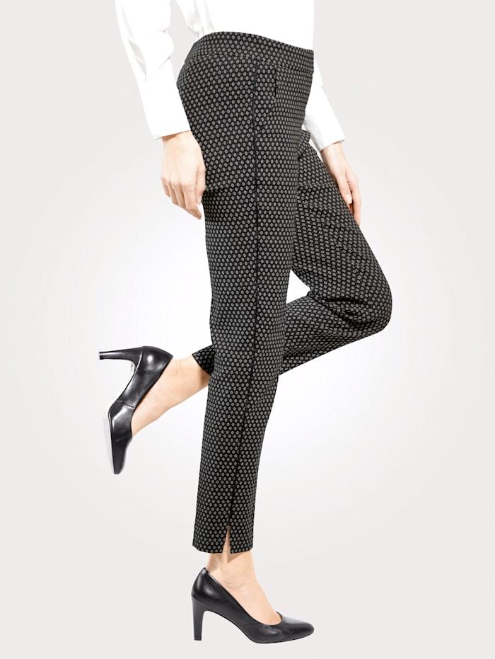 Toni Pantalon facile à enfiler, Noir/Beige