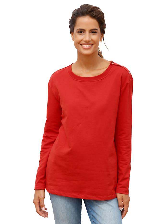 Sweatshirt met knopen opzij