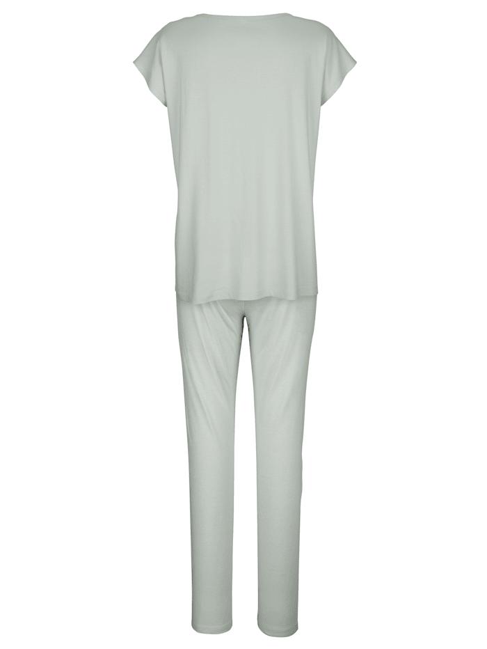 Pyžama, 2ks s čipkovou vsadkou