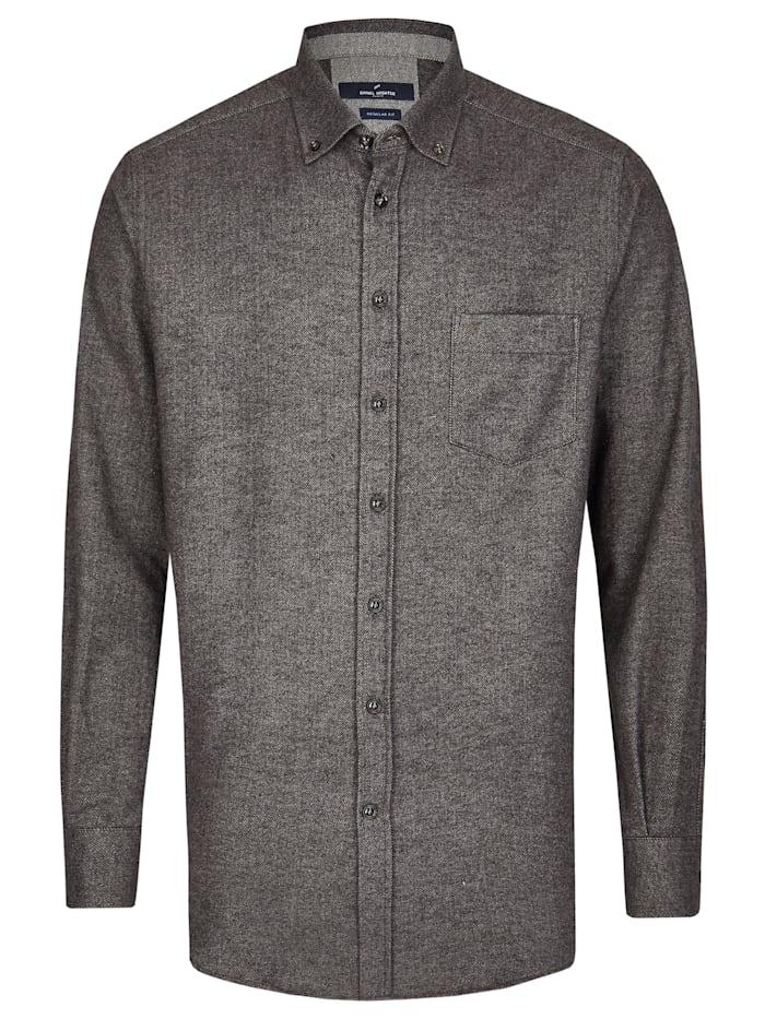 Daniel Hechter Flanell-Hemd in extraweicher Qualität, graphite