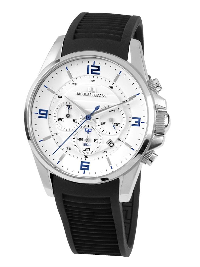 Jacques Lemans Herren-Chronograph Uhr Serie: Liverpool, Kollektion: Sport 1-1799B, Schwarz