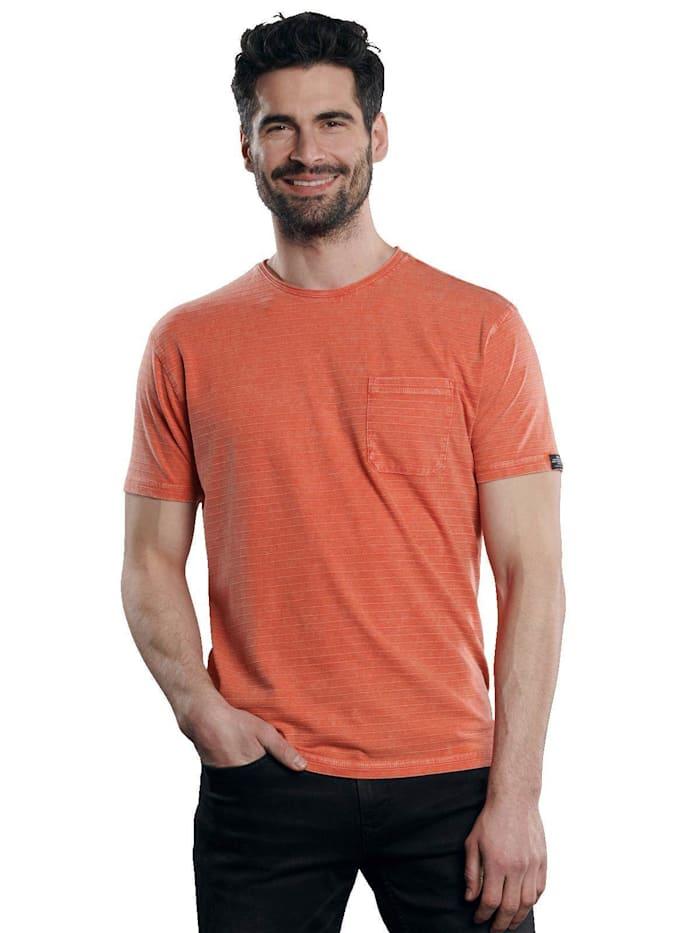 Engbers T-Shirt Rundhals gestreift, Tieforange