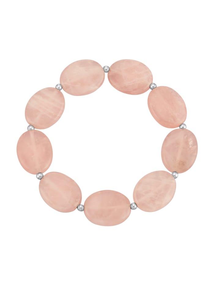Armband van echt zilver, Roze