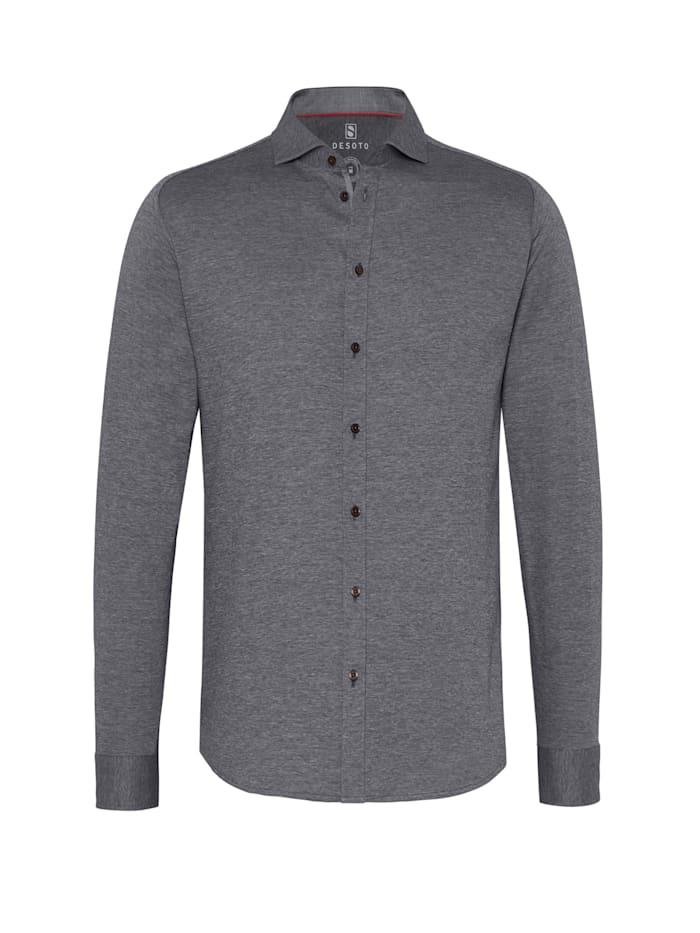 Desoto Bügelfreies Jerseyhemd - made for Movement, Piquee black