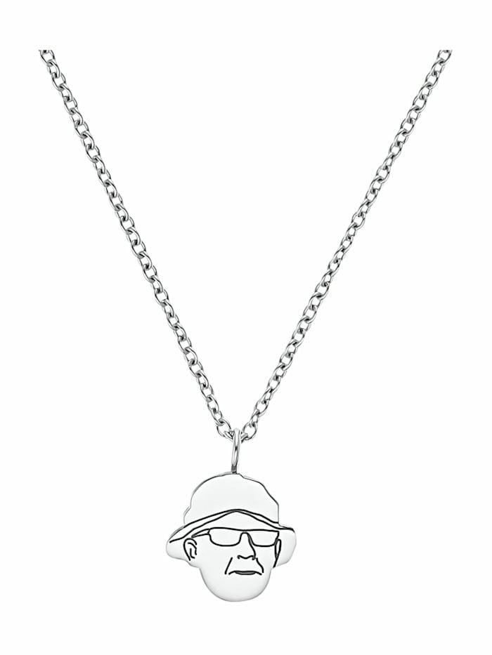 amor THE HEAD Kette mit Anhänger Unisex, Edelstahl, Silber
