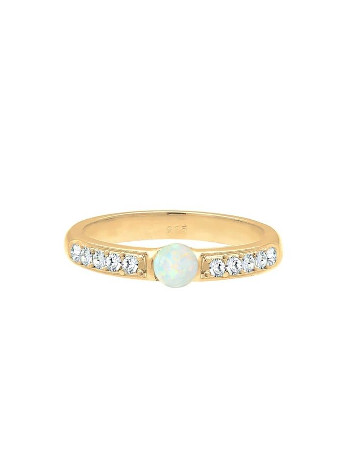 Ring Opal Kristalle 925Er Sterling Silber