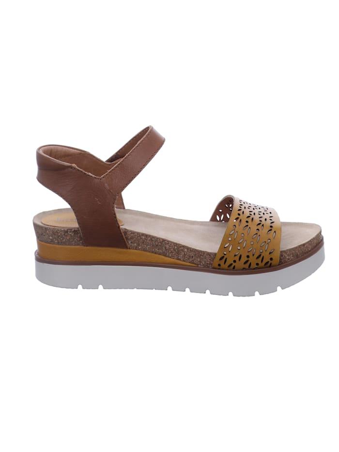Damen-Sandale Clea 09, gelb-kombi