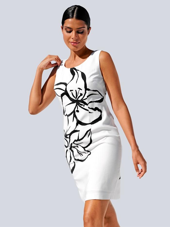 Alba Moda Strandkleid mit Blumensilhouette, Weiß