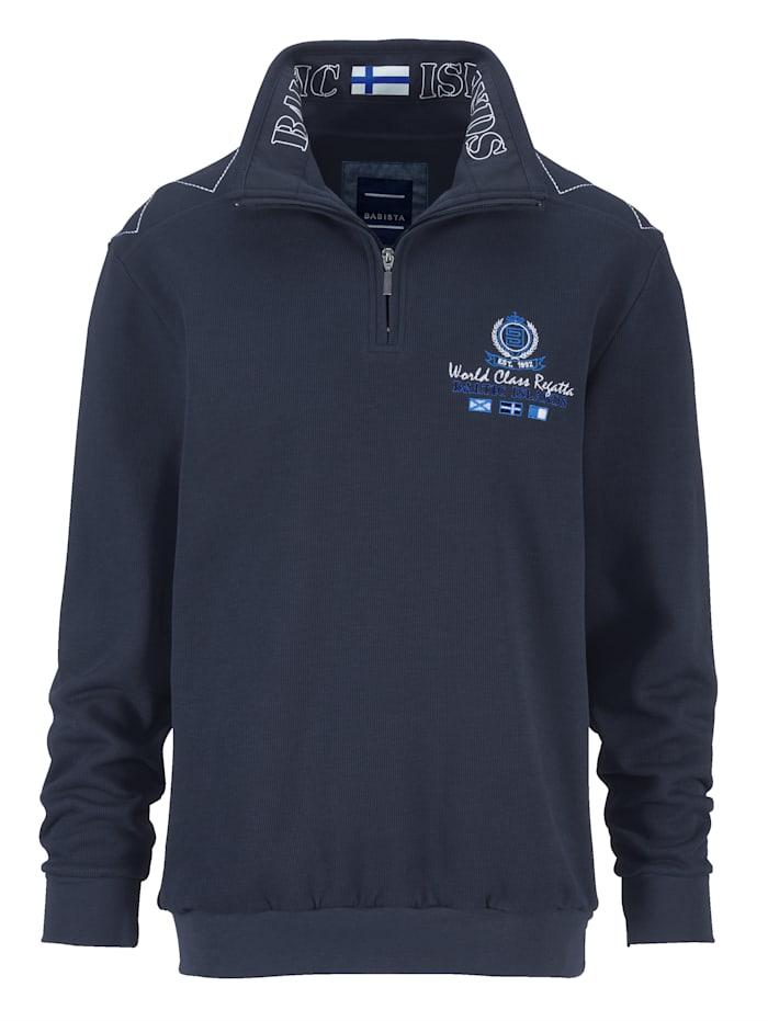 BABISTA Sweatshirt met luxueuze details, Marine