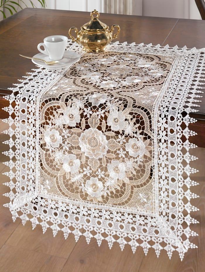 Webschatz Tischwäsche 'Martha', Creme-Weiß