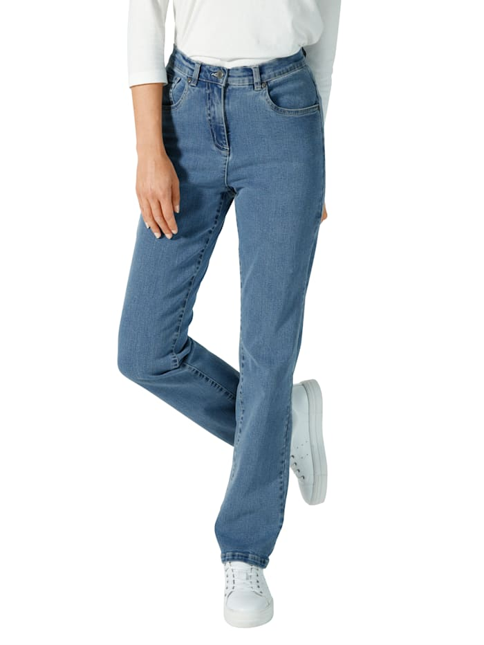 Paola Jeans in comfortabel model, Blue bleached