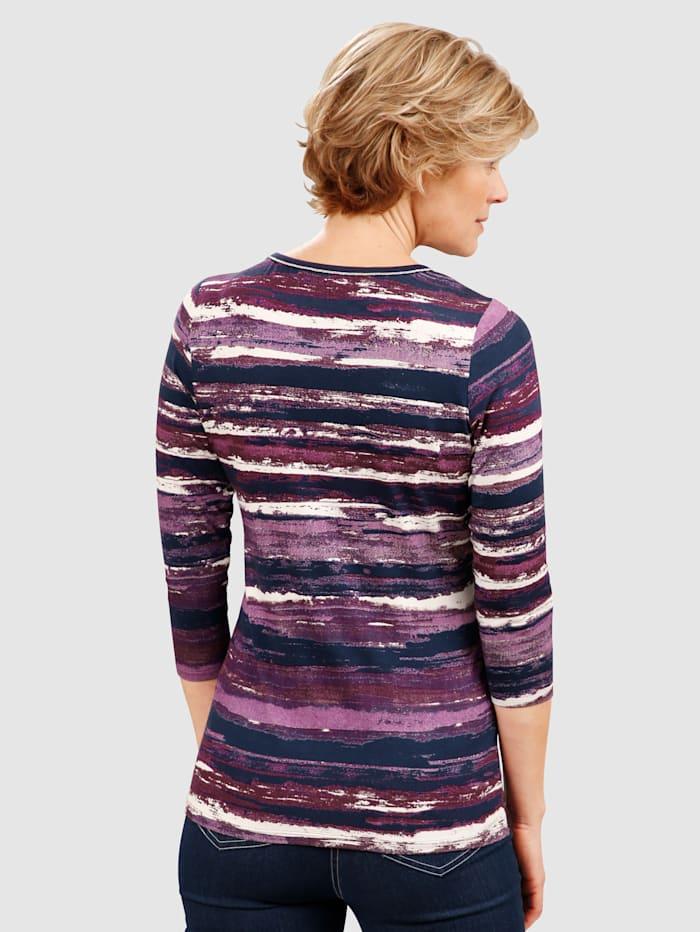 Shirt in raffinierter Streifenoptik