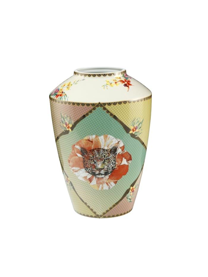 "Goebel Goebel Vase Elephant - ""Leopard Rot"", Bunt"