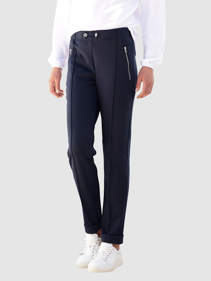 Dress In Hose in Sweatqualität, Marineblau