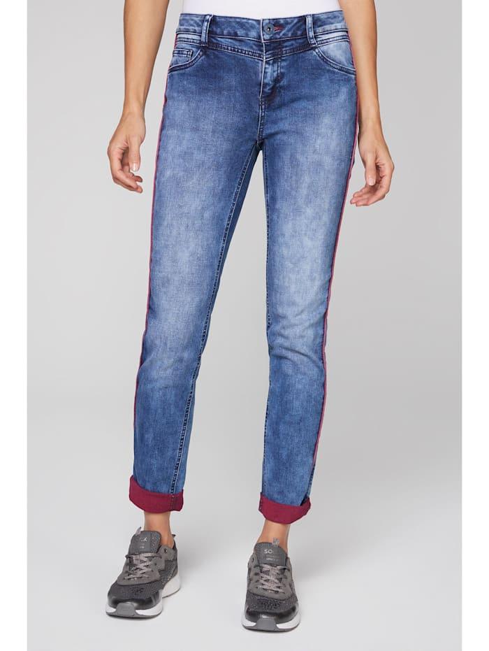 SOCCX Jeans CH:EA mit Piping und gefärbter Innenseite, dawn blue used