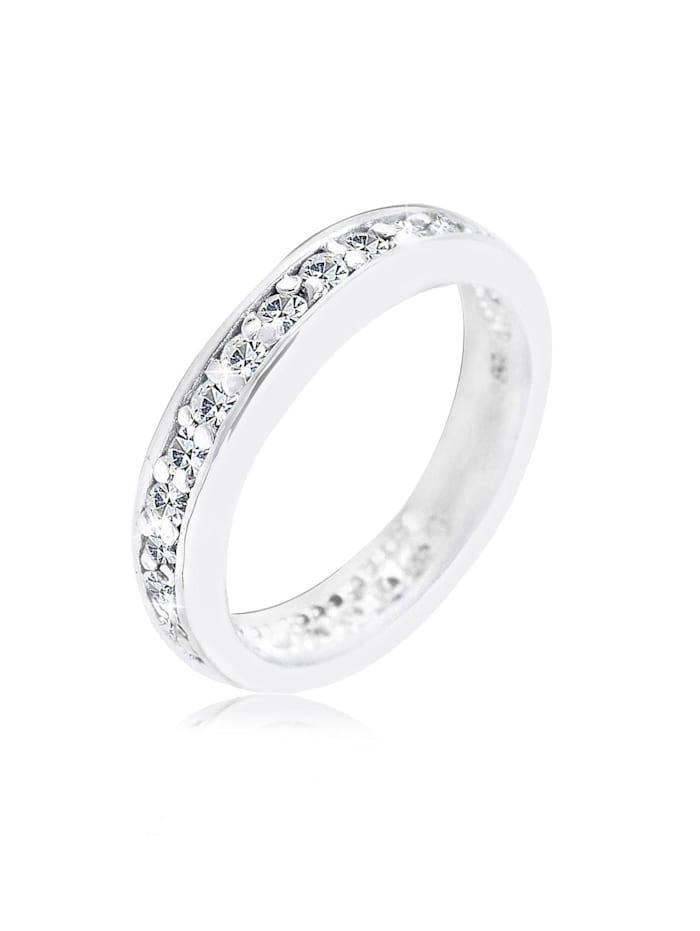 Elli Ring Bandring Kristalle 925 Sterling Silber, Weiß