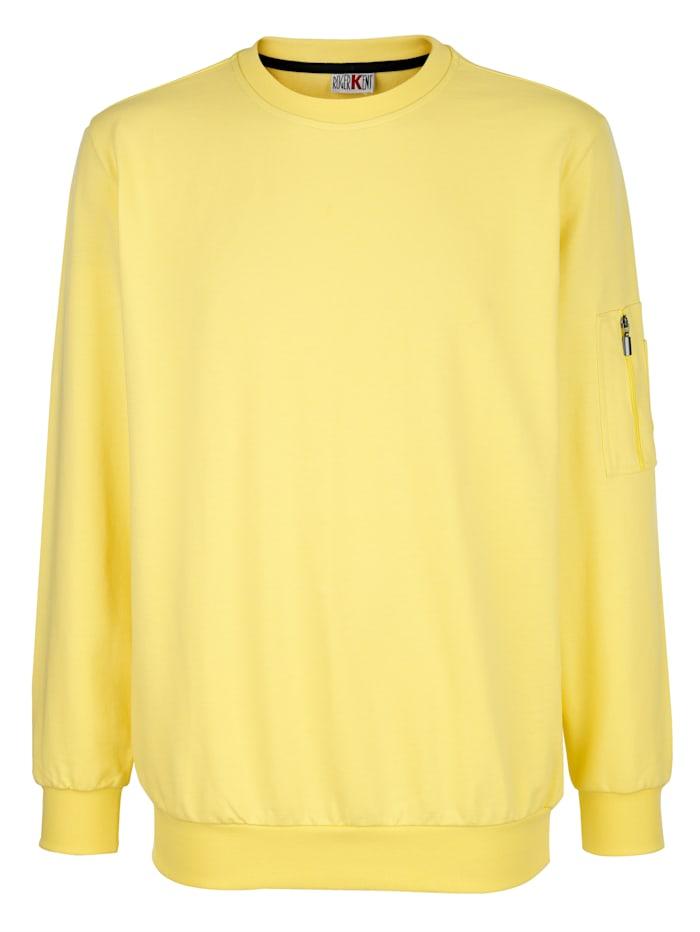 Roger Kent Sweatshirt aus reiner Baumwolle, Gelb