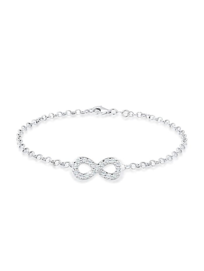 Elli Armband Infinity Kristalle 925 Silber, Silber