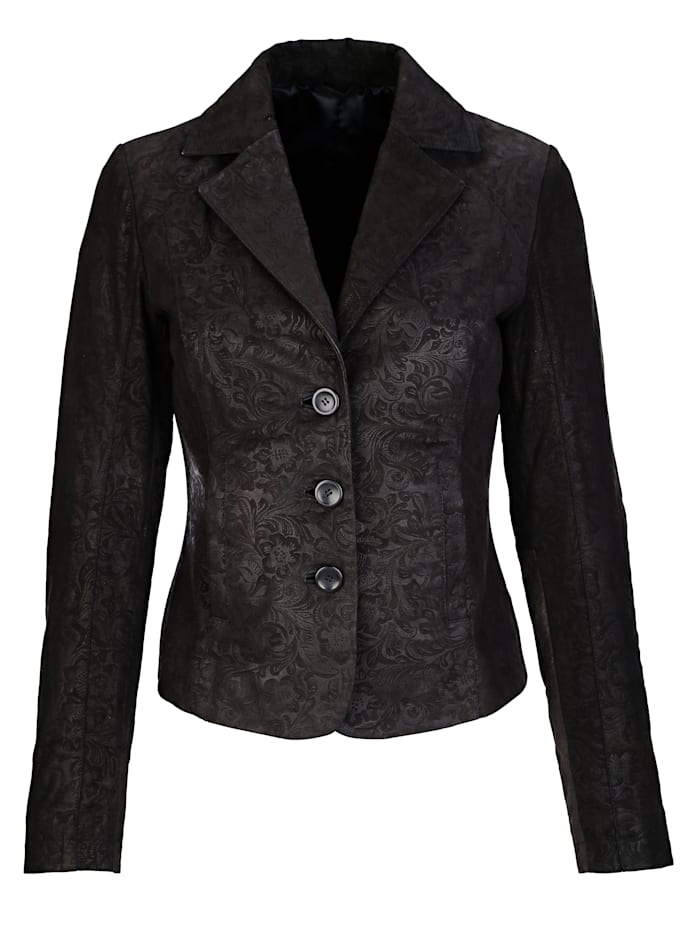 Blazer in real leather