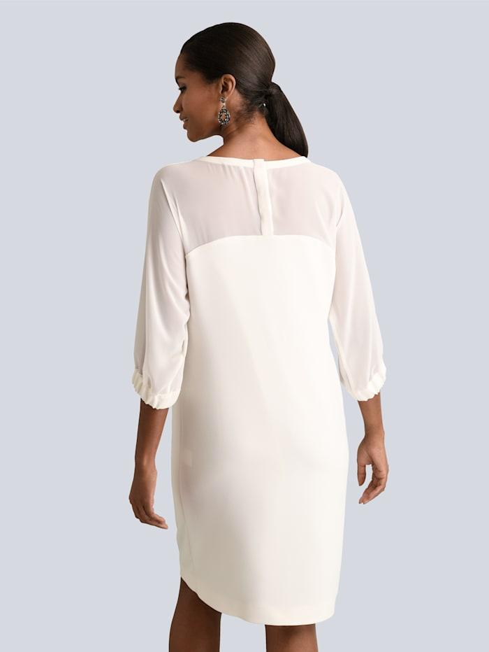 Kleid mit transparenten Chiffon-Ärmeln