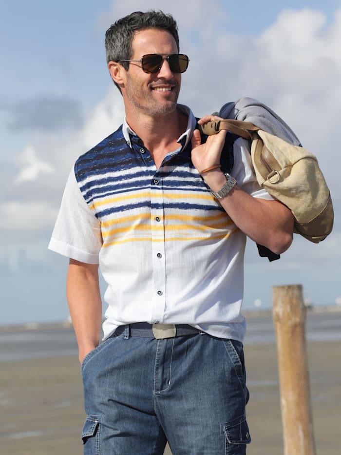 BABISTA Hemd mit feiner Streifenstruktur, Weiß/Blau