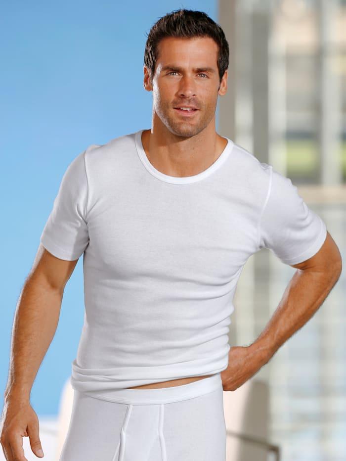 HERMKO Hemd met korte mouwen, Wit