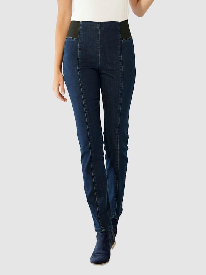 Paola Jeans med bred stretchlinning, Dark blue