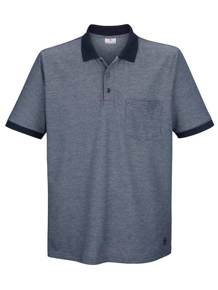 Poloshirt mit Kragen und Bündchen in Kontrast