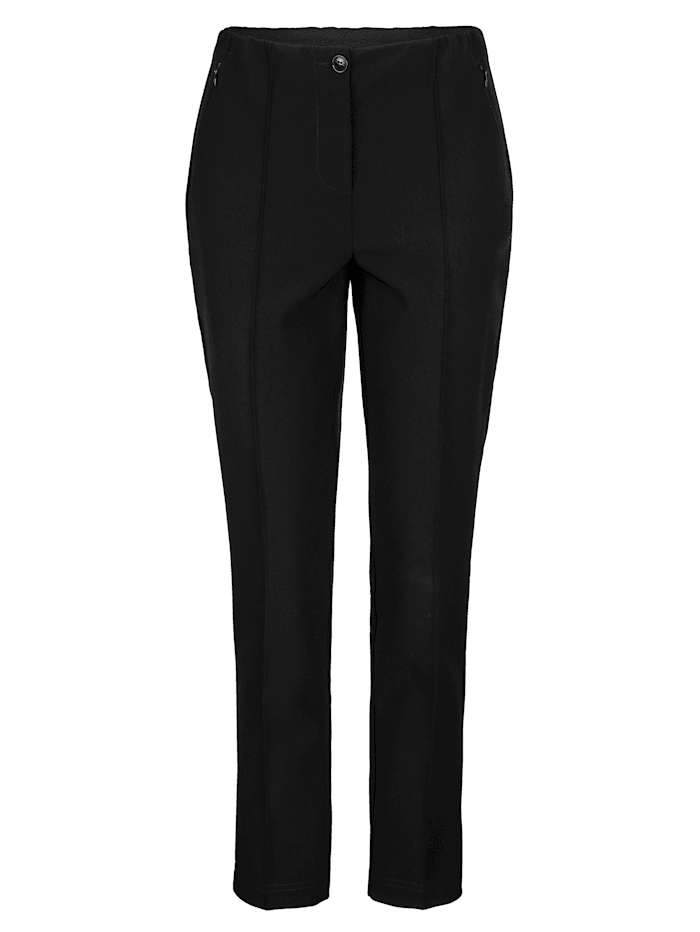 Trousers with front crease detailing