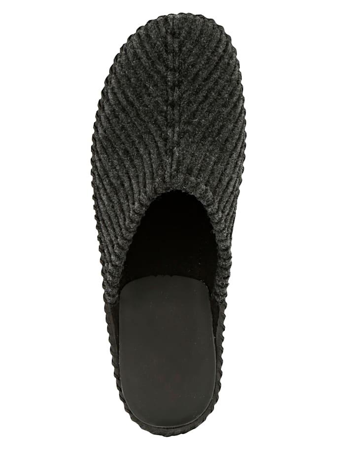 Pantoffel mit abriebfester Laufsohle