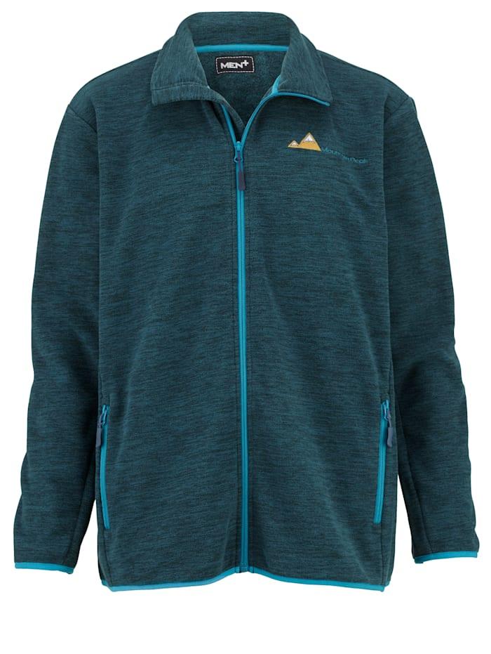 Men Plus Fleecová bunda se stojatým límcem, Námořnická/Petrolejová