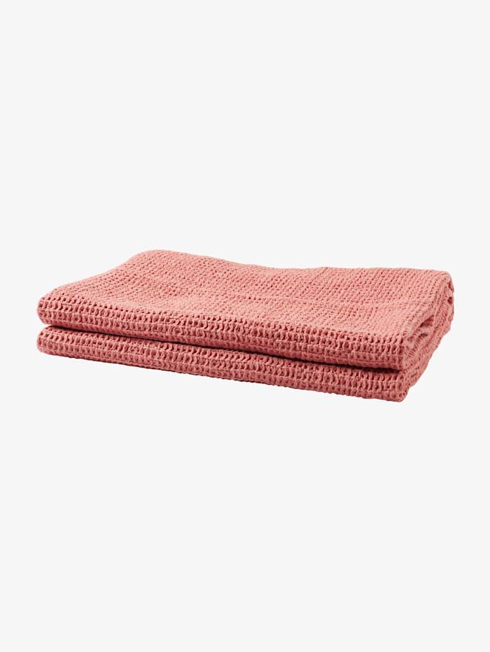 Tom Tailor Grobstrick-Decke mit Quasten, coral