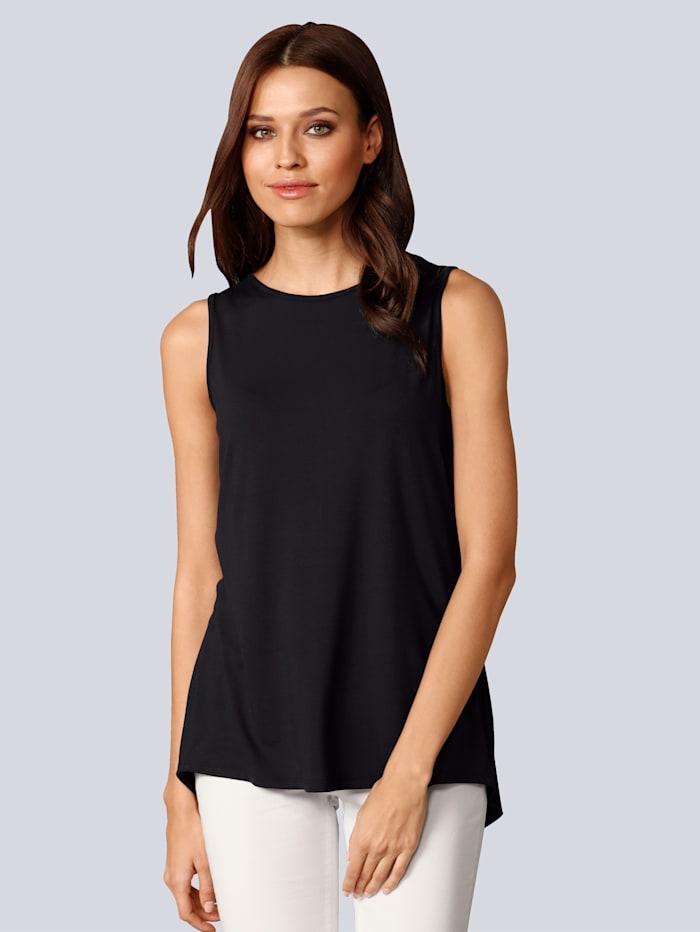 Alba Moda Shirt mit besonderem Detail im Rücken, Marineblau