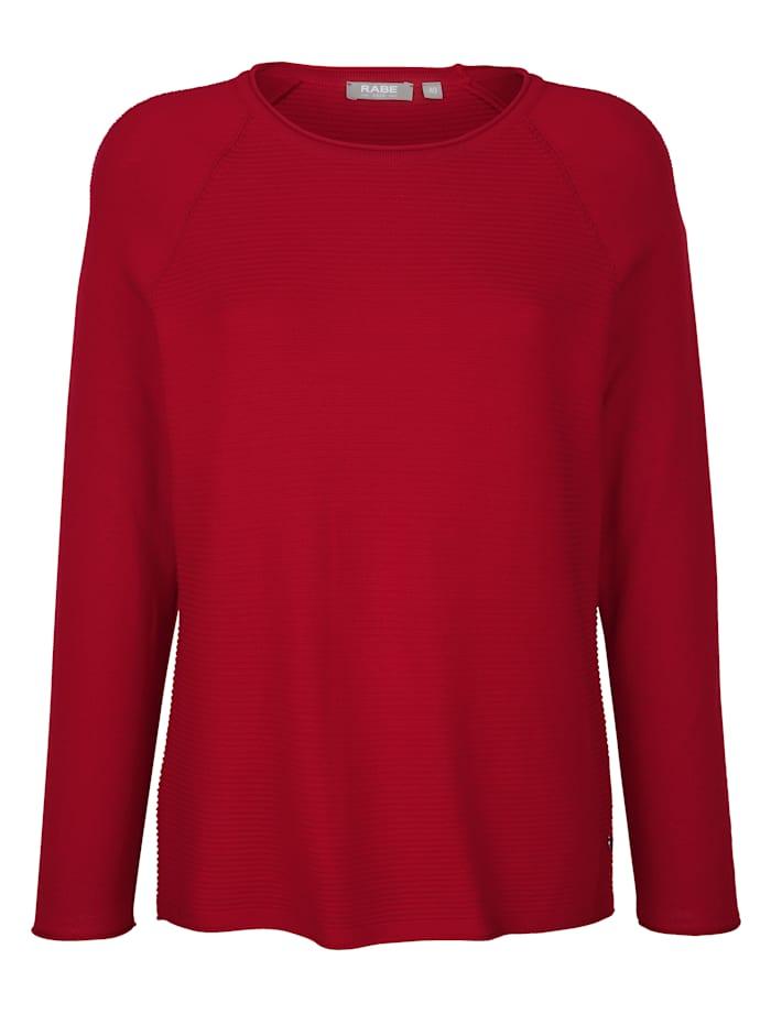 Pullover mit feinem Strukturringel