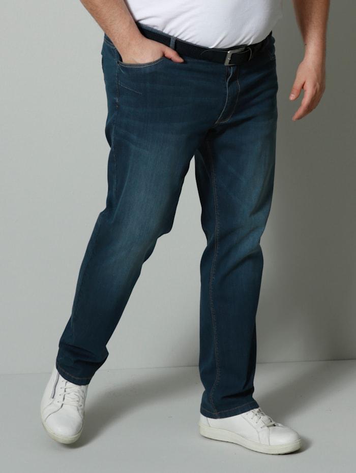 Men Plus Jeans Straight Fit, Blue stone