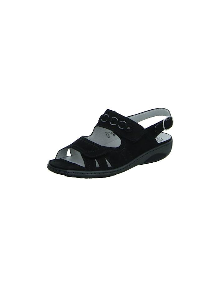 Waldläufer Damen Sandale in schwarz, schwarz